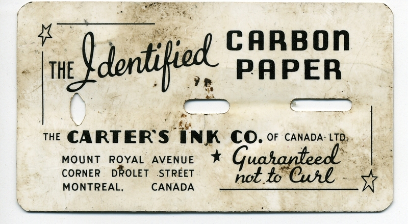 1-carters ink carbon paper