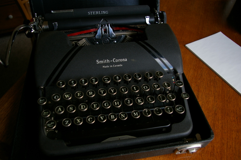 how to clean a smith corona sterling typewriter