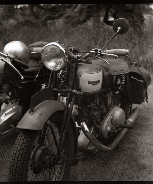 Vintage British motorcycle