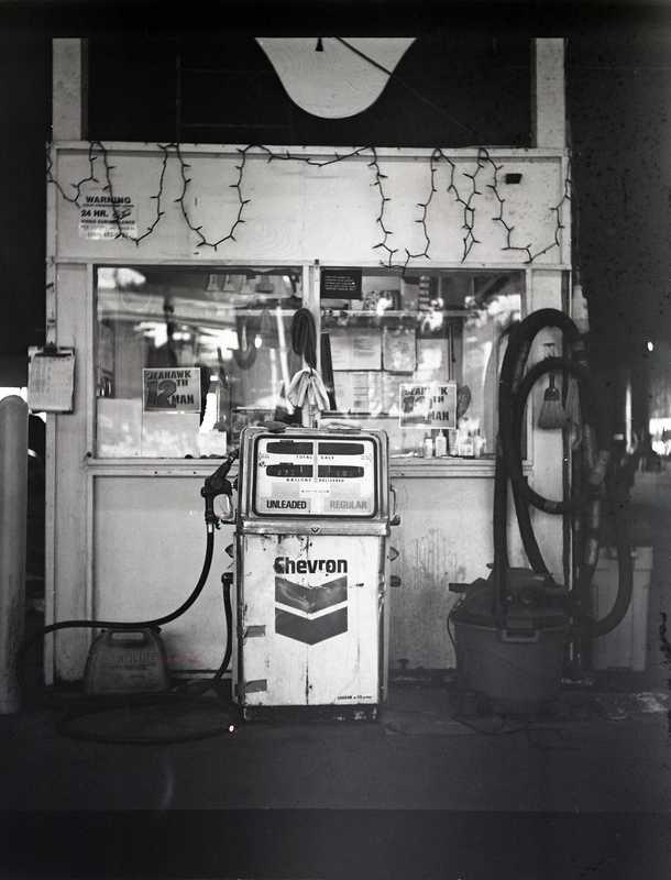 Vintage American gas station