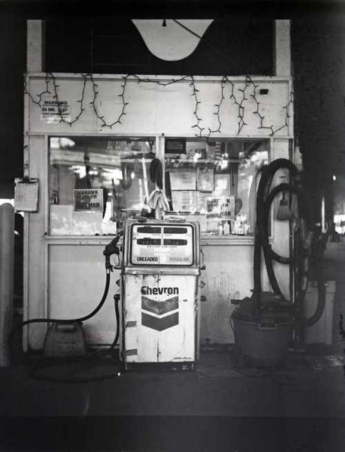 Vintage American gas station