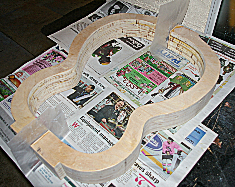Guitar mold - day 3