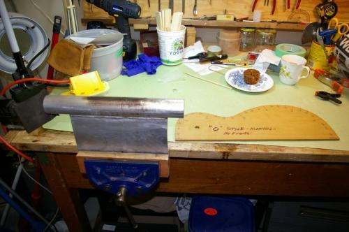 side bending setup - aluminum pipe with bbq lighter inside