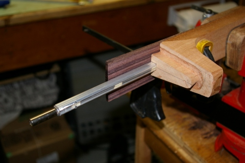 testing placement of truss rod prior to gluing
