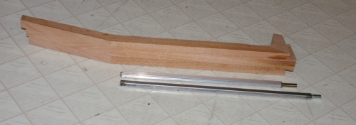neck blank with 2 types of truss rods