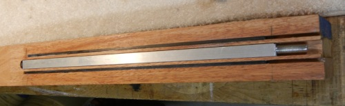 neck with truss rod and carbon fiber rods