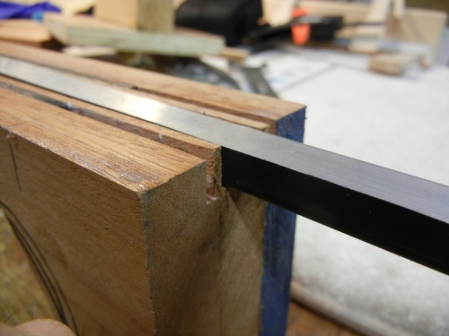 installing truss rod & carbon fiber rods