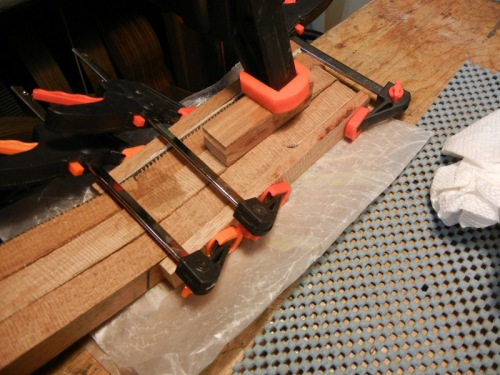 gluing ears on the headstock