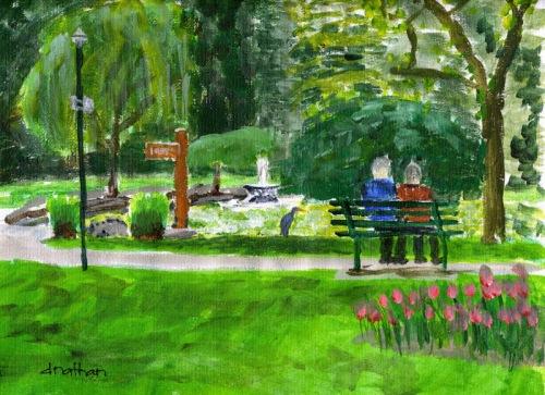 Fountain Lake - Beacon Hill Park - Victoria