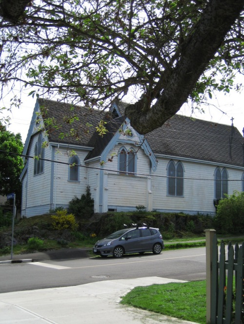 old church on a corner