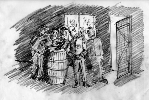 The Colonel examines the barrel