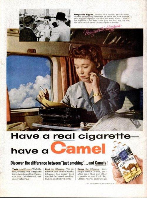 camel cigarettes margeurite higgins typewriter