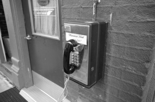 a pay phone - how civilized