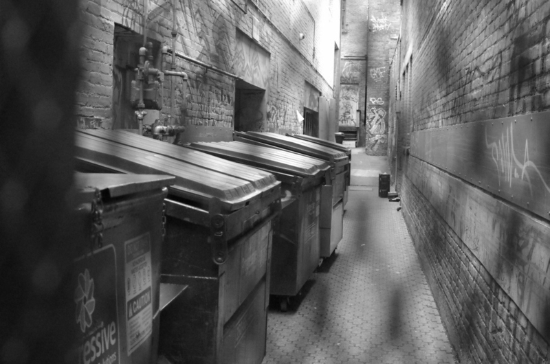 trash bin alley
