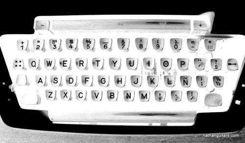 keyboard in white & black